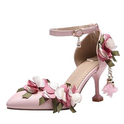 Amazon Latasa Womens Pointed Toe High Heel Flower Sandal