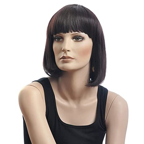 Amazon.com  chinese bob wigs for women heat resistant wigs short wigs with  bangs hot hair wigs B0031  Sports   Outdoors 2fca722468