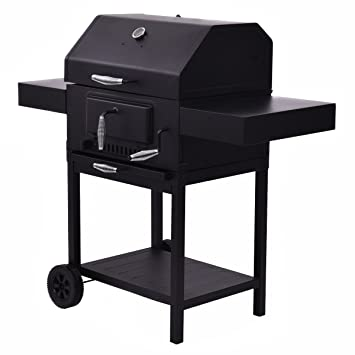 Giantex Outdoor Charcoal BBQ Grill Backyard Barbecue Cooking Smoker Deck  Patio W/Casters