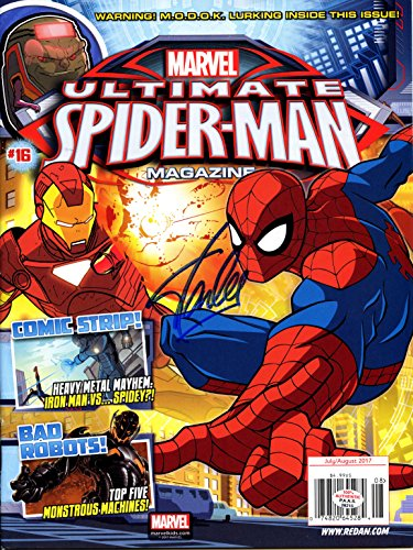 Stan Lee Signed Signed Autographed Marvel Ultimate Spider-Man Magazine PAAS COA