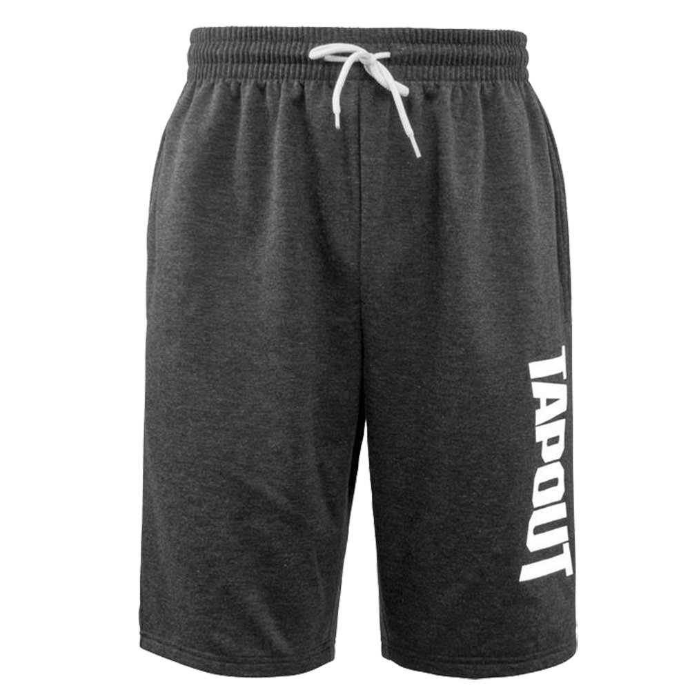 Tapout  Mens Logo Print Casual Soft Fleece Shorts Bottoms