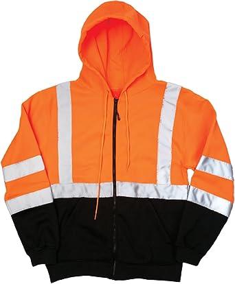 ML Kishigo Full Zip Hoodie Sudadera con Slash bolsillos, naranja, XXXL, naranja,