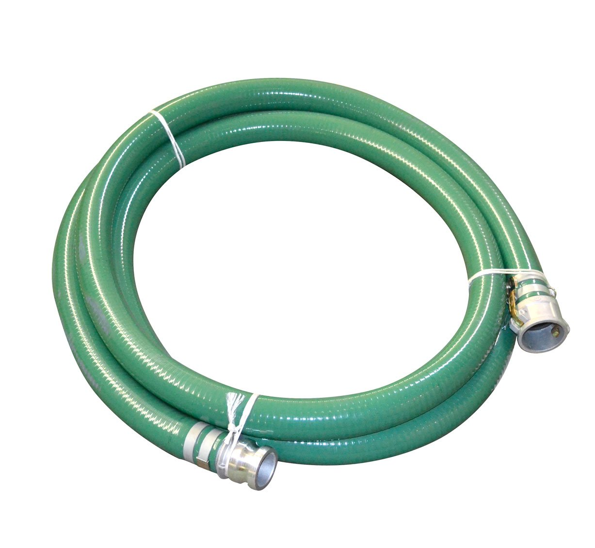 Abbott Rubber PVC Suction Hose Assembly, Green, 3'' Male X Female Cam And Groove, 40 psi Max Pressure, 20' Length, 3'' ID