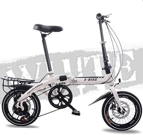 FYYTRL Ligera de Acero al Carbono Bicicleta Plegable de la Ciudad ...