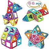 #3: SASRL Magnetic Blocks Toys Educational Building Tiles Blocks Stack Toys Set - 66PCS