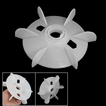 Machine Part White Plastic 12mm Inner Dia 12 Vane Impeller Motor Fan