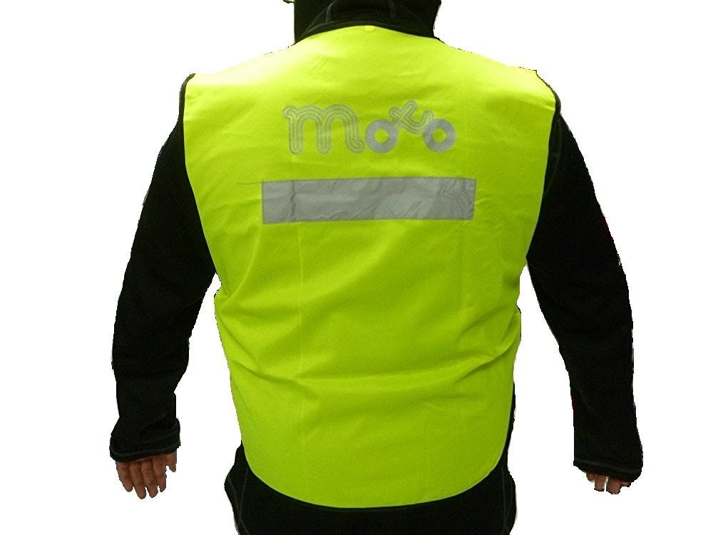 Viper Giacca moto allarme Accessories A376 accessori moto –  Indumenti protettivi armatura pettorale, Reflective Yellow, XL Motohart UK Ltd
