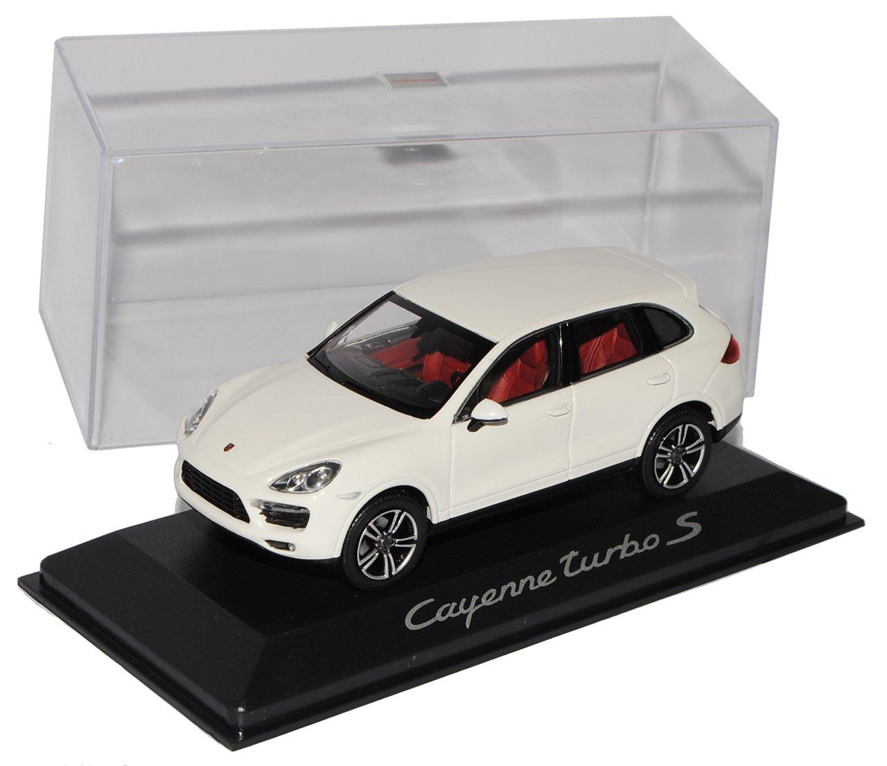 Minichamps Porsche Cayenne Turbo S Weiss Ab 2010 2. Generation 1/43 Modell Auto mit individiuellem Wunschkennzeichen