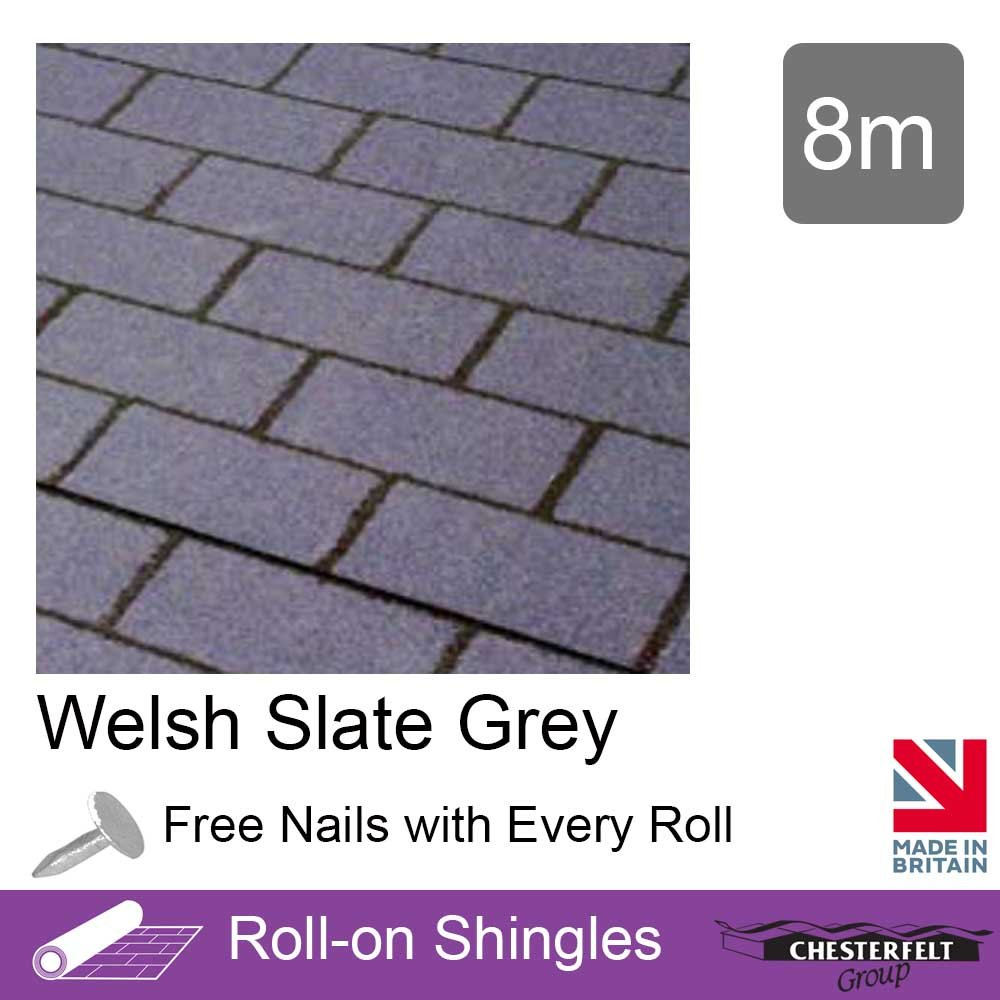 Chesterfelt Roll-On Shingles | Shed Felt Shingles | Square Butt | 8m | Brick Red Ashbrook Roofing
