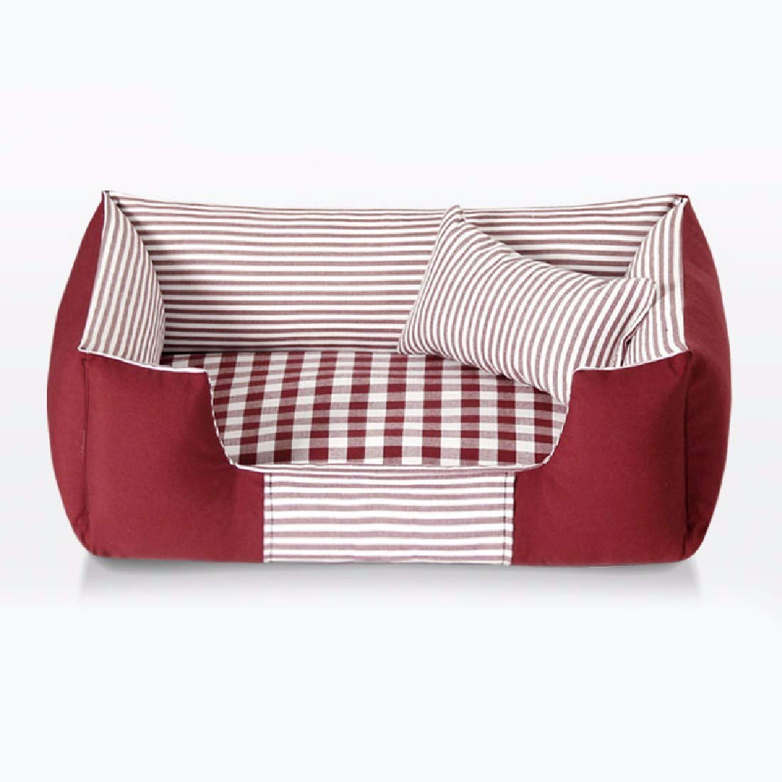 Red 54x44 red 54x44 Gwanna Pet Dog Cat House Bed Four seasons kennel bite dog pet bed,bluee,72x52 Soft Pad for Pets Sleeping (color   Red, Size   54x44)