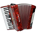 Excalibur Super Classic Accordion - 60 Bass - High Polish Red