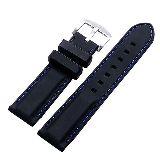 Amazon.com  Raylans Mens Thread Silica Gel Watch Band Long Short Two ... 0608a81b458