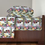 Roostery Africa 3pc Sheet Set African Village By Sylvie by House Of Heasman Twin Sheet Set made with