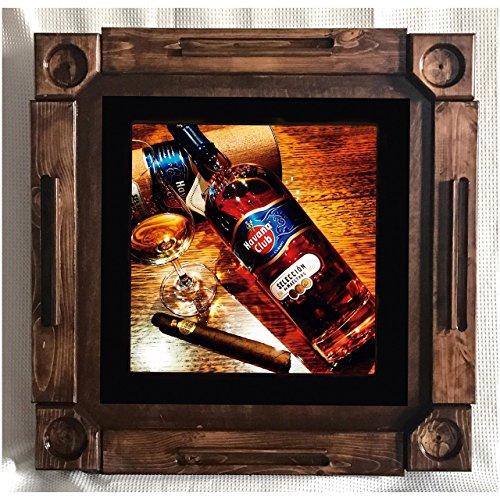 Wooden/wood dominoes/domino table/mesa-custom made-Habana/Havana Club Rum Cuba-Solid Wood