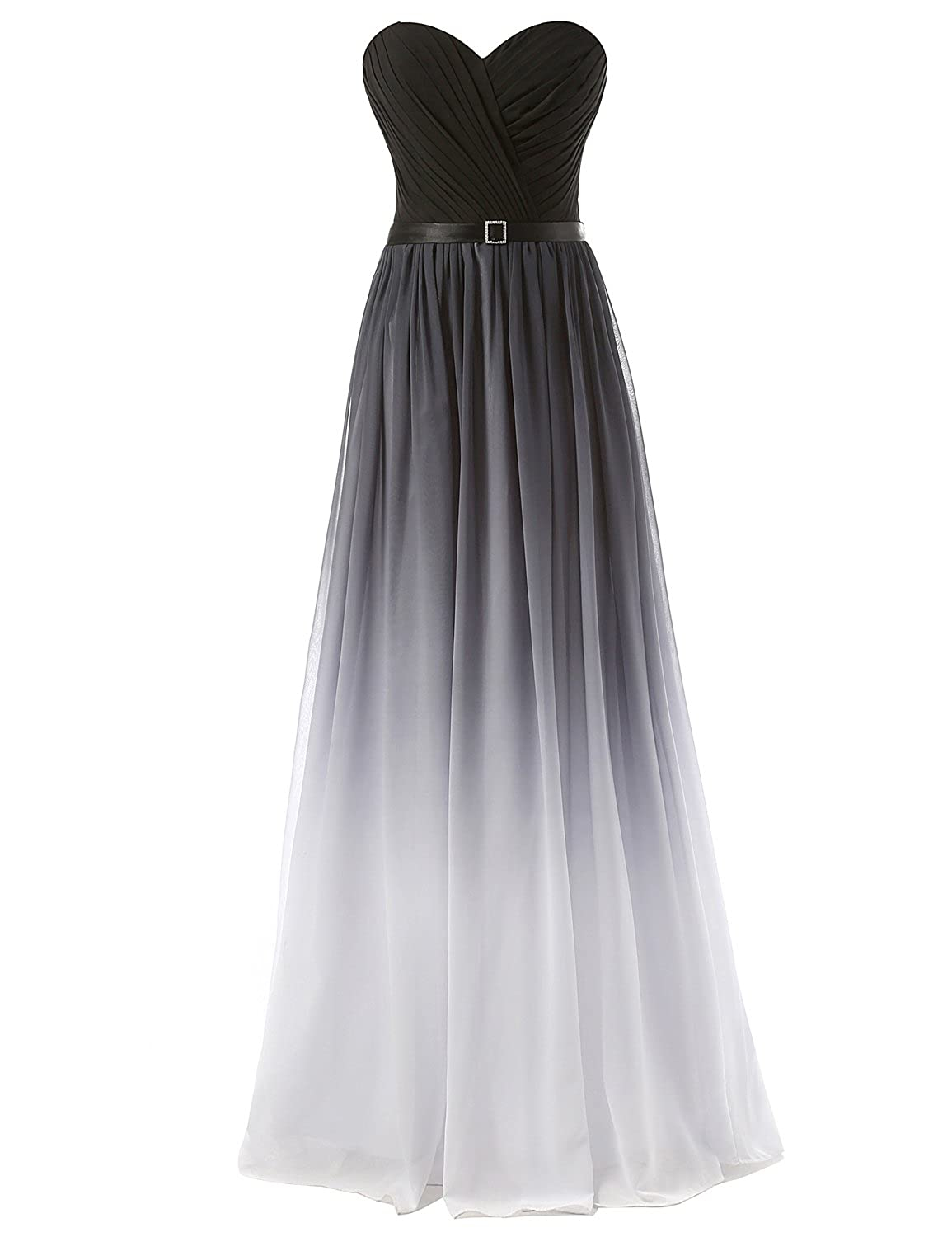 Favebridal Women's Long A-line Evening Dresses Gradient Ramp Prom Gowns SD313