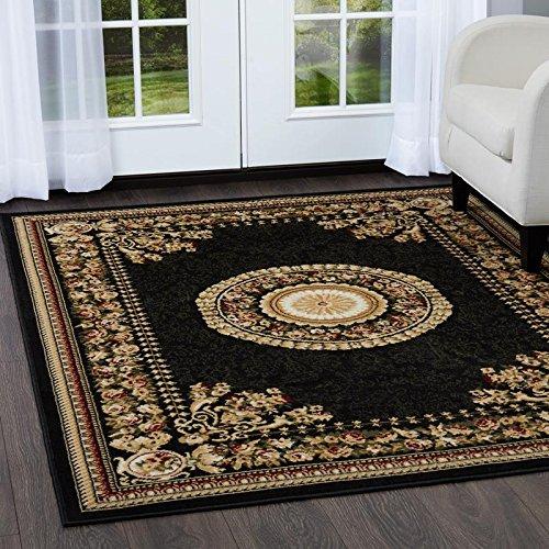 - Home Dynamix Optimum 11023-450 Polypropylene 7-Feet 10-Inch by 7-Feet 10-Inch Round Area Rug, Black