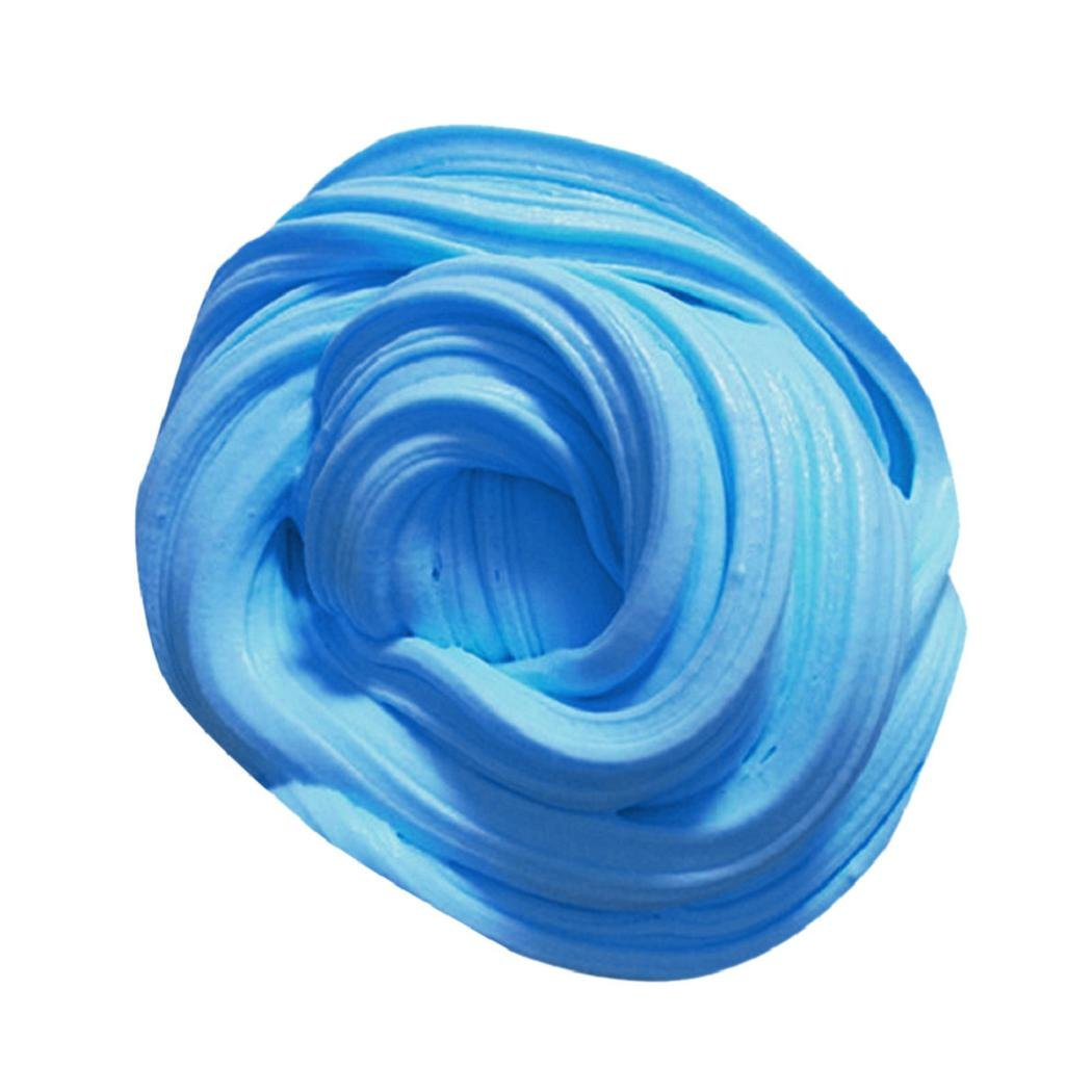 Fluffy Slime,ShenPr Non-sticky Floam Slime Stress Relief Toy Scented DIY Putty Sludge Toy for Girls and Boys (Blue)