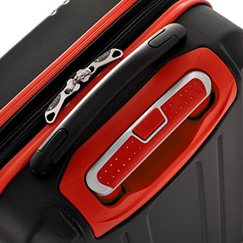 Olympia Apache 3pc Hardcase Spinner Luggage Set, Black/Red by Olympia (Image #3)