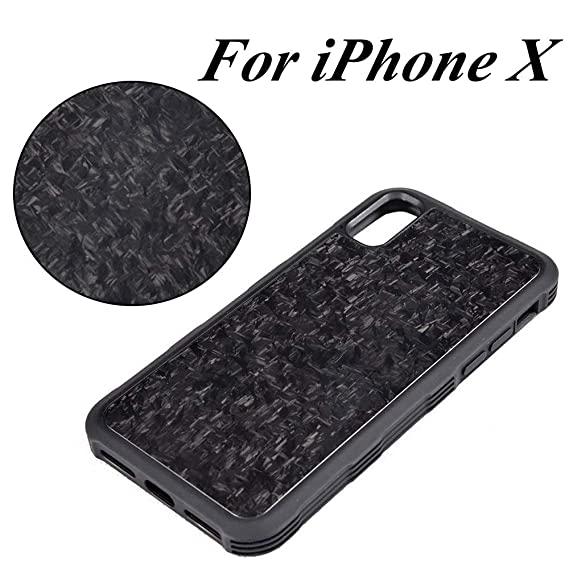 sports shoes 3ba74 f68be iPhone X Case,Forged Carbon Fiber Case Phone Case,Slim Fit Strongest  Durable Snugly Fit Snap-on Case for iPhone X