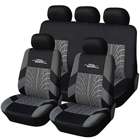 AUTOYOUTH Car Seat Covers Universal Fit Full Set Protectors Tire Tracks Accessories