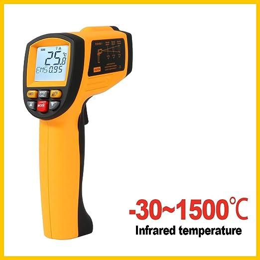 Four Termómetro infrarrojo Digital láser sin Contacto Temperatura ...