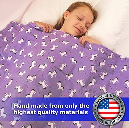 Designer Weighted Blanket for kids (or adult) | Dozens of cute styles in many sizes | Gravity blankets may help relieve anxiety, stress & insomnia | Style - Study Puppy | Flannel - 6 lbs by The Swanky Stitchery (Image #4)