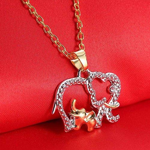 Cute Jewelry Chain Women/Girls Elephant Crystal Pendant Necklace Rhinestone