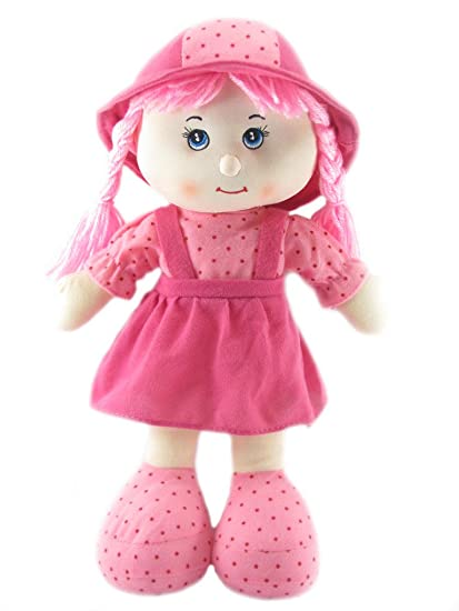ec07d97977d Buy Tickles Pink Cute Looking Smiling Doll Stuffed Soft Plush Toy Love Girl  36 cm AT-DL010 Online at Low Prices in India - Amazon.in