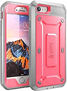SUPCASE Unicorn Beetle Pro Series Case Designed for iPhone SE 2nd generation (2020)/iPhone 7/iPhone 8, Full-Body Rugged Holster Case with Built-In Screen Protector (Pink)
