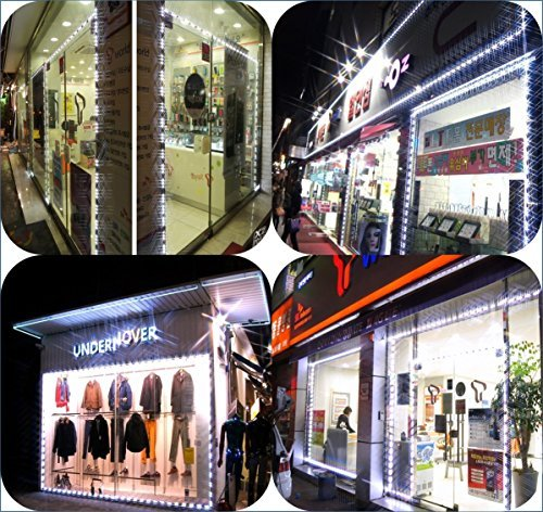 Storefront Window LED Lights All in One Kit Built-in Protective Cap Plug&Play (50ft)