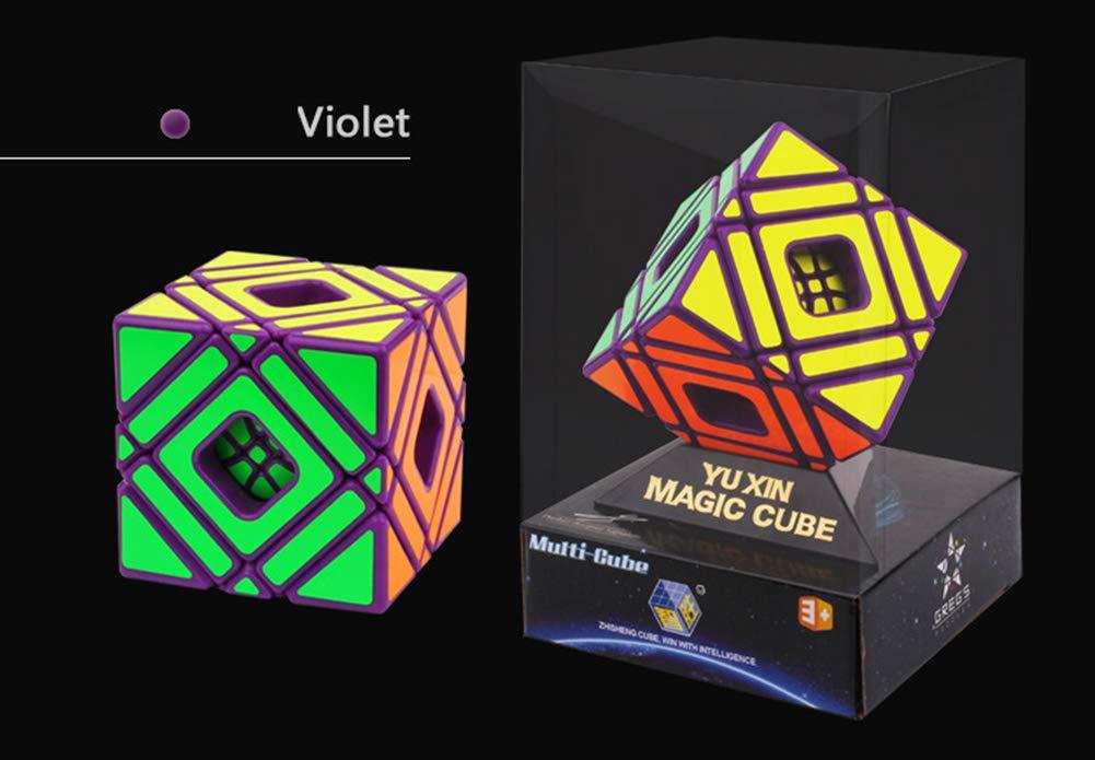 mas preferencial púrpura VIWIV Cubo De Juguete Alien Alien Alien Rubik Puzzle Creativo Alien Novedad Multi-Skewb Juguete  orden en línea