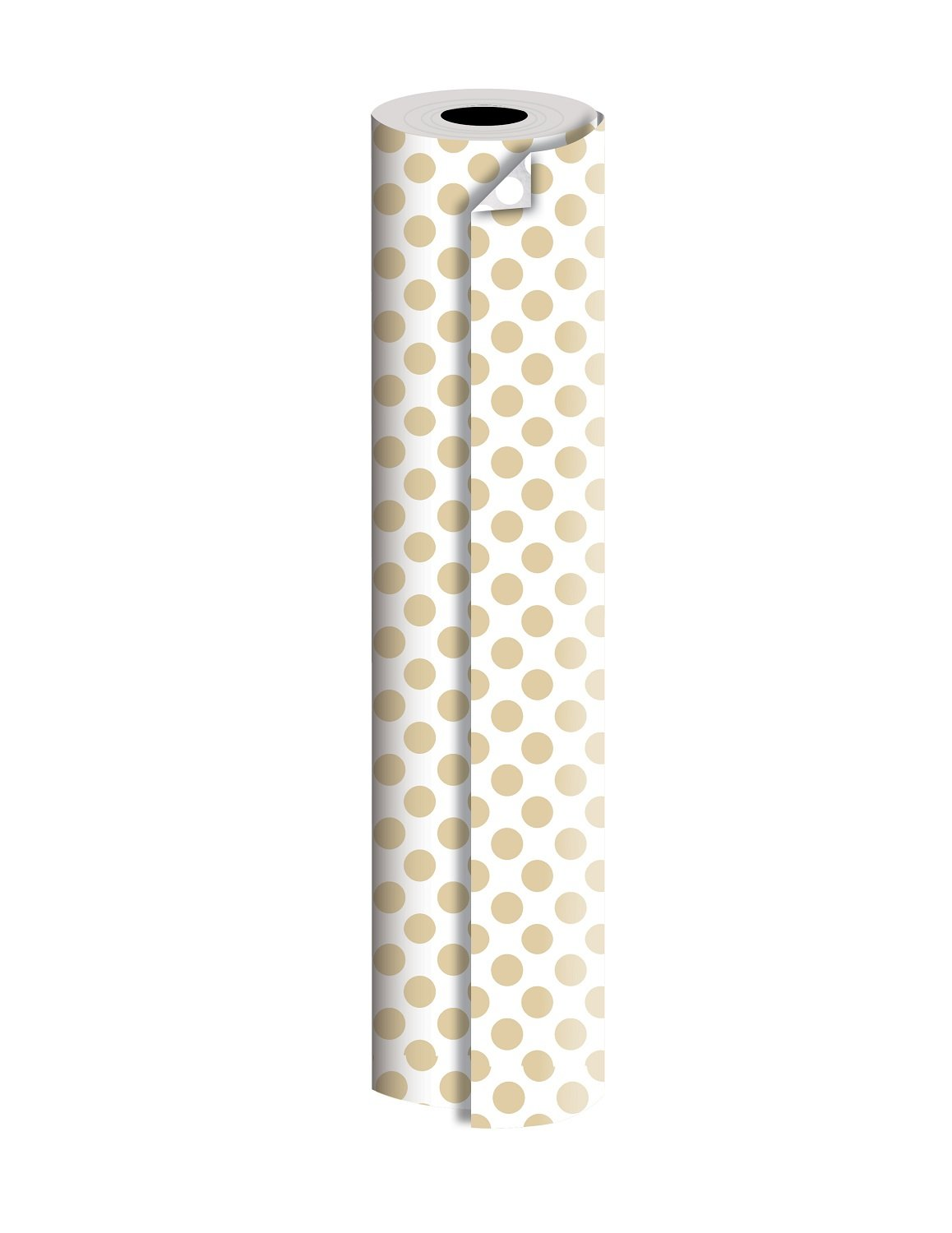 Jillson Roberts Bulk 1/2 Ream Double-Sided Reversible Gift Wrap Available in 12 Different Color Combinations, 30'' x 417', Gold and Silver Dots