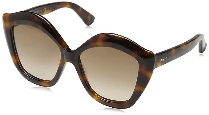 a7e7e6b847d Gucci Sunglasses Gucci GG 0117 S- 002 AVANA   BROWN  Amazon.in ...