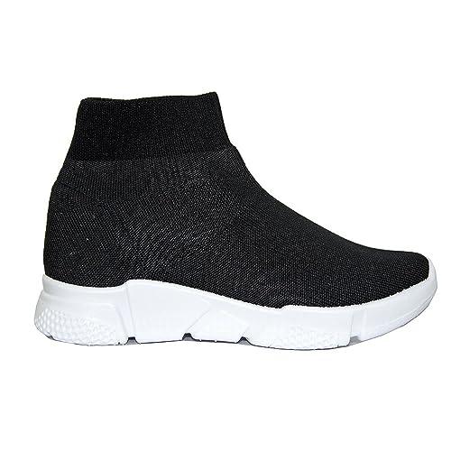 Popposhoes Scarpe Donna Ginnastica Sneakers Calzino No Lacci Palestra Corsa  Style Fitness (37 bbc43fa7ff4