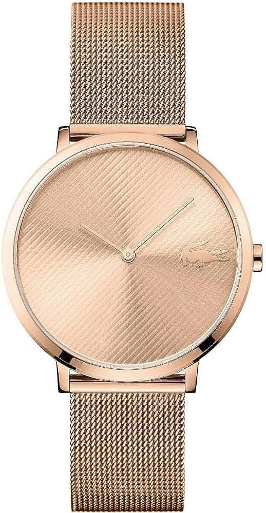 Lacoste Reloj Analógico para Mujer de Cuarzo con Correa en Acero Inoxidable 2001028