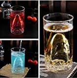 1*300ML New Sharks Cup Handmade Glass Beer Mug Glassware