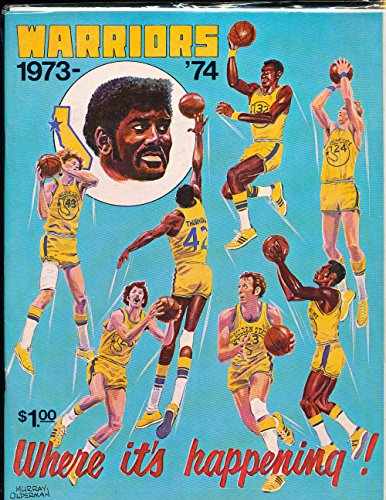 1973 11/13 Cavs vs Warriors basketball program amp; press notes b1