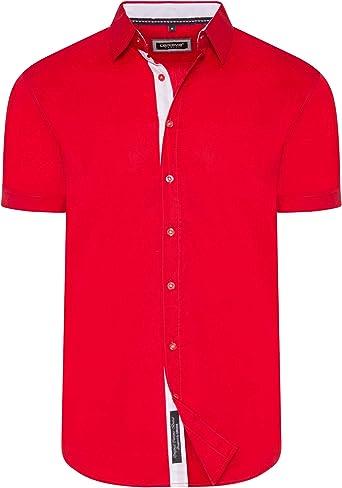 Carisma - Camisa casual para hombre, manga corta/manga larga, ajustada, para ocio, negocios, boda: Amazon.es: Ropa y accesorios