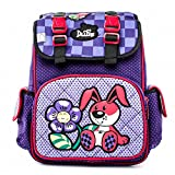 Waterproof Children School Bag Girls Boys grade 1-4 Backpack Cartoon Mochila Infantil Large Capacity Schoolbag rabbit purple