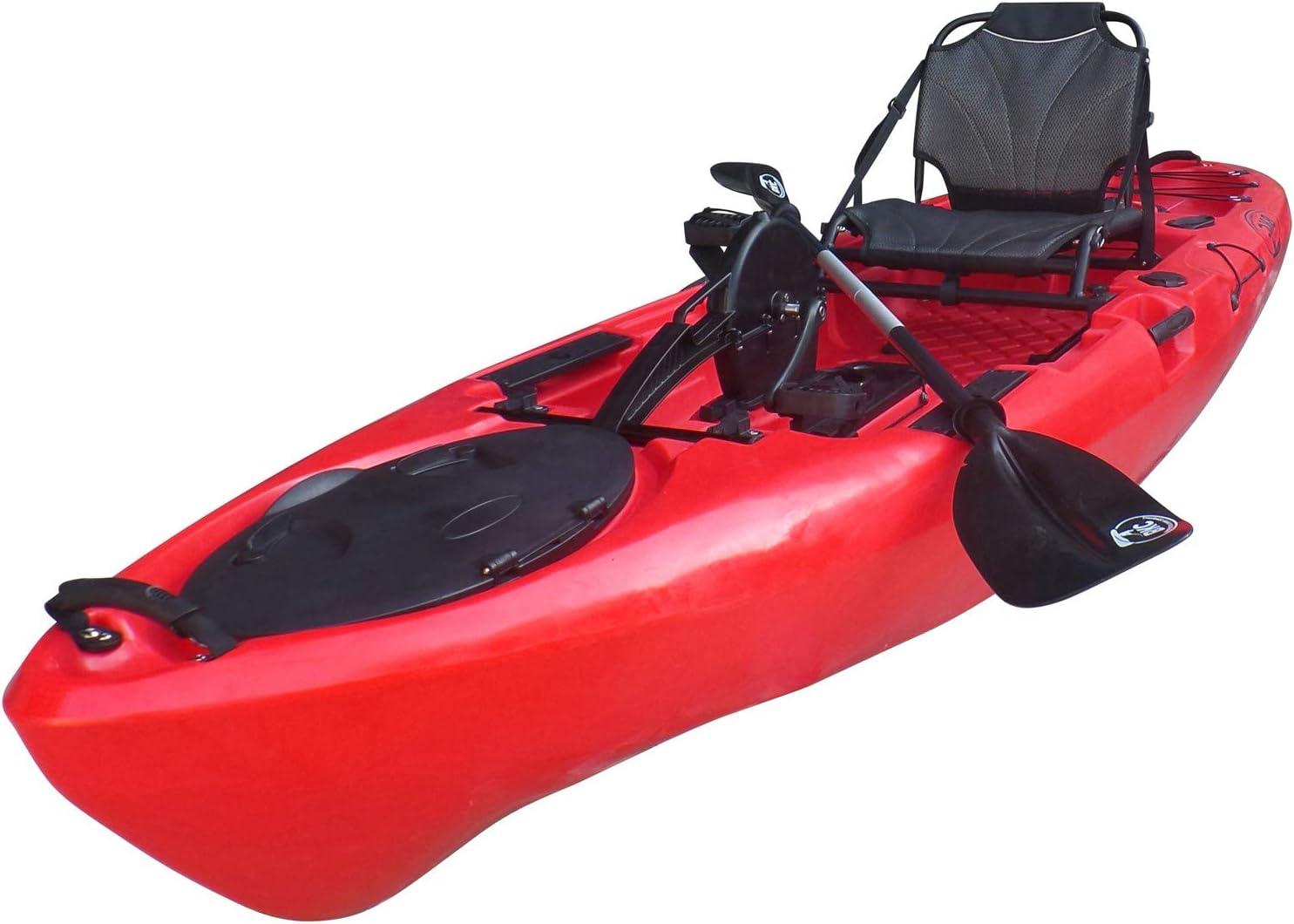 BKC PK11 10.6' Single Propeller Pedal Drive Fishing Kayak