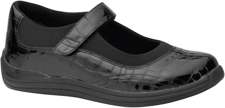 Drew Women/'s Tulip Comfort Shoes Black Croc