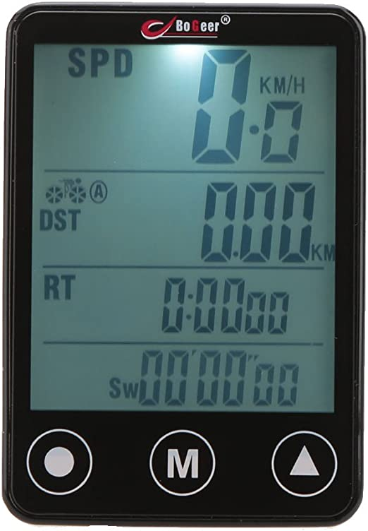 GuDoQi Computadora de Bicicleta LCD Velocímetro de Bicicleta ...