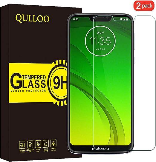 QULLOO Protector de Pantalla Motorola Moto G7 Power Cristal ...