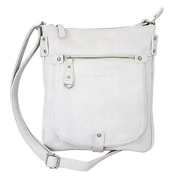 cb3775f0367a6c Damen Tasche Handtasche Schultertasche kleine Umhängetasche für Frauen  Crossbody Bag Damentasche in Weiß (3110)