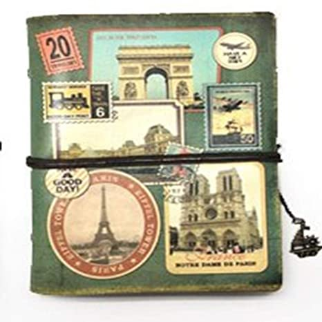 Amazon.com : MINILZY Notebook Vintage Stationery PU Leather ...