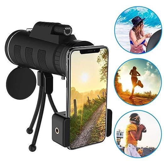 DeHui-ssmn Telescopio Monocular , 40X60 Zoom para Smartphone ...