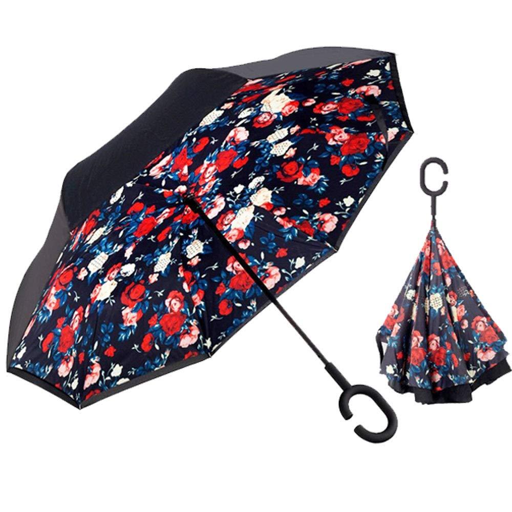 The Worlds First Reversible Umbrella Smart Brella Pink Flower