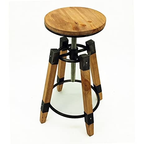 Wyland Rustic Contemporary Wood/Steel Barstool  sc 1 st  Amazon.com & Amazon.com: Wyland Rustic Contemporary Wood/Steel Barstool ... islam-shia.org