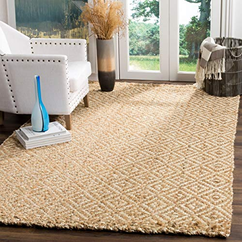(Safavieh Natural Fiber Collection NF261A Ivory and Natural Area Rug, 9' x 12')