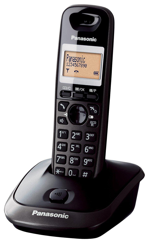 Panasonic KX-TG2511SPM - Teléfono DECT Inalámbrico (Alarma, Pantalla LCD monocroma, Capacidad de lista de direcciones: 50, Remarcado), Gris [versión ...
